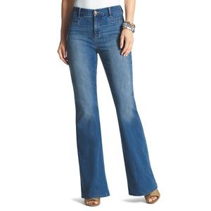 Chico's So Slimming Girlfriend Flare Jeans